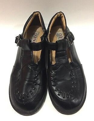 Vintage 90's Carter's Girl's Black Mary Jane Dress Shoes w/ Buckle Strap Size 4