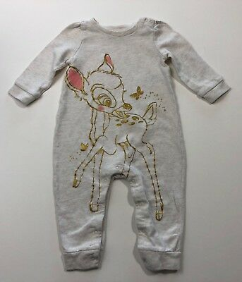 BABY GAP Disney Bambi Romper Outfit Size 12-18 Months