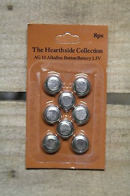 1.5 Volt Replacement Batteries (AG13) for Tealight Candles Pack of 8