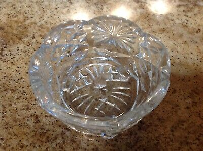 Antique Cut Glass Bowl~ Stamped England