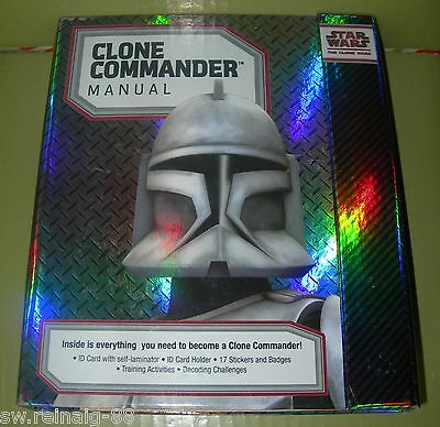 Star Wars Clone Commander MANUAL/BOOK Badges ID CARD Stickers Activities