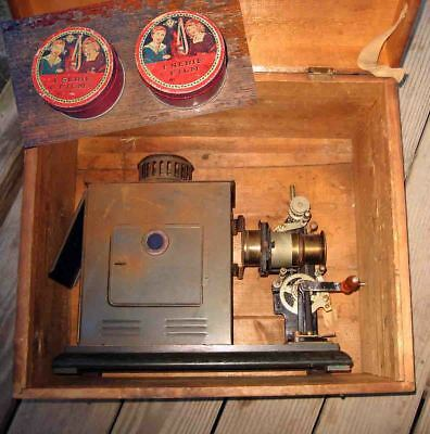 Antique Cased c1897 Handcrank 'GBN Bavaria' 35mm MOTION PICTURE FILM PROJECTOR