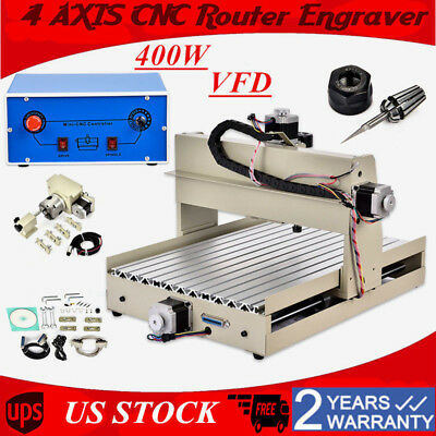 4AXIS 3040 CNC Router Engraver Engraving Cutter T-Screw Desktop Cutting 400W US