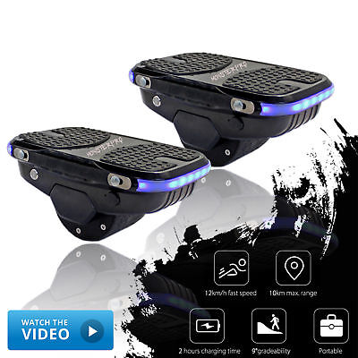 Black Newest Cool Smart Hovershoes Skate Electric Scooter Hover Shoes