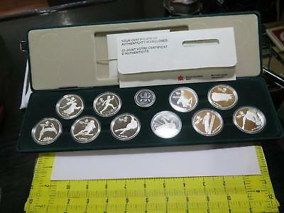 Canada 1988 $20 Silver Proof Calgary Olympic Issue Set World Coin Collection Lot