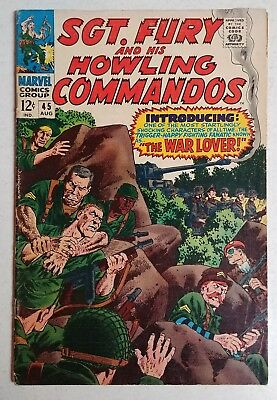 Sgt. Fury #45 (Aug 1967, Marvel) and His Howling Commandos.