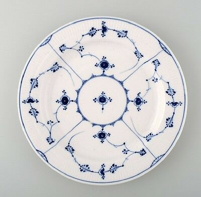 Rare and antique Royal Copenhagen Blue fluted large round platter. Early 19 c.