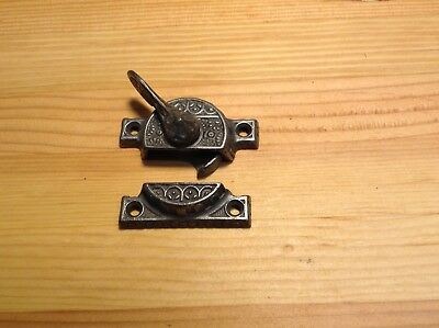 antique cast iron victorian sash lock