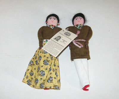 Authentic Navajo Cloth Doll Couple Native American Artist Isabelle Jim Orig Tag