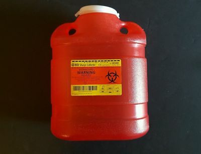 BD Sharps Container 6.9 Quart BIOHAZARD Container 305489 New B-D FREE SHIPPING