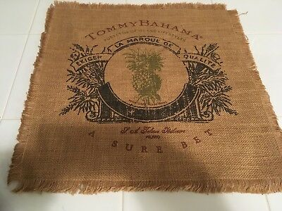 Tommy Bahama Screen Printed Burlap Advertising Sign