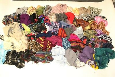 Huge Wholesale Lot Scarves RAW UNSORTED Retail Collection GIANT Batch aVtV