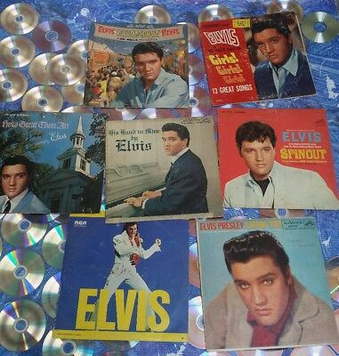 Elvis Presley Vinyl Records lot Of 7
