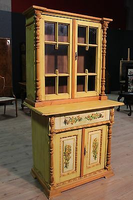 Showcase buffet hand-painted furniture eastern european panels with glass