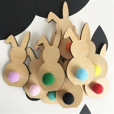 Wooden Easter Rabbit Home Decoration Easter Party Decor 1 pcs Easter Bunny