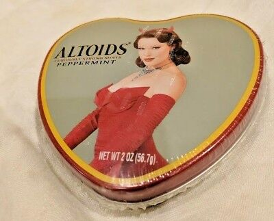limited edition ALTOIDS heart tin--SINDY valentines day PIN UP devil GIRL--NEW