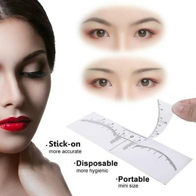 Eyebrow Ruler Sticker Disposable Adhesive Eyebrow Microblading Measur Ruler V4K2