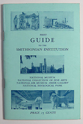 Vintage Travel Guide to the Smithsonian Institution 7th Edition Washington DC