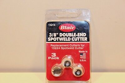 """BLAIR 13214 3/8"""" Double-end Spotweld SPOT WELD  And Access Cutter [3 Pack]"""