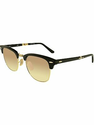 aa8de2bb05 Ray-Ban Men s Gradient Clubmaster Folding RB2176-901S7O-51 Black Sunglasses