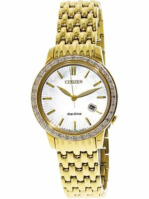 Citizen Women's Eco-Drive EW2282-52D Gold Stainless-Steel Japanese Quartz Fas...
