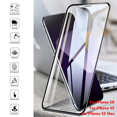 NEW For iPhone Xs Max XR 9H Tempered Glass Screen Protector Film Crystal Clear