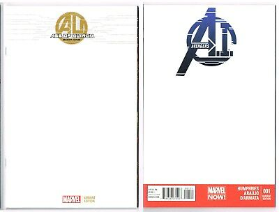 AGE of ULTRON Book One & AVENGERS A.I. Blank Variant Cover Pair Marvel Now! NM