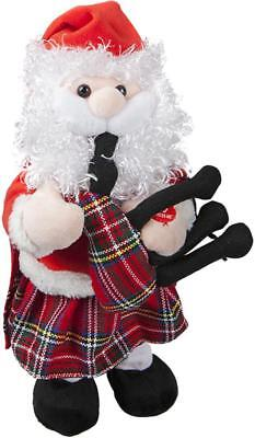 30cm Animated Dancing Musical Santa with Bagpipes