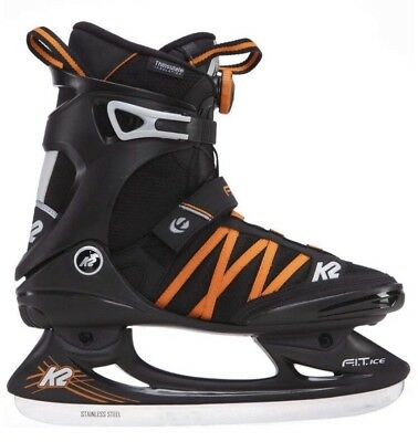 K2 Fit Ice Boa Men's Ice Skates, Men, FIT ICE BOA, black/orange 8 UK 42 EU
