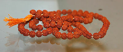 Necklace Tested Rudraksha Pure Garland Worship Vintage Collectible India
