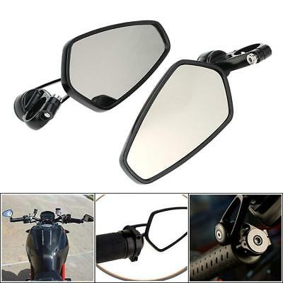 Motorcycle Rearview Mirrors Side Mirror CNC Bar End Mount for Honda Yamaha