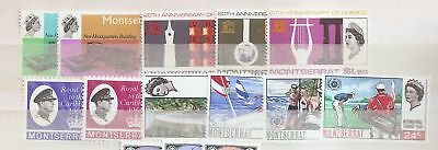 Montserrat 1966-67 collection Mint Never Hinged MNH   a1937