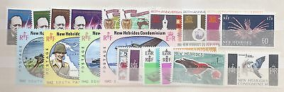 New Hebrides 1966-1967 incl 5F Kingfisher bird c£5 Mint Never Hinged MNH   a1936