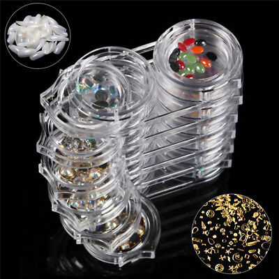 Storage Bottle Plastic Empty Box Case Pot For Nail Art Rhinestone Bead Step_S