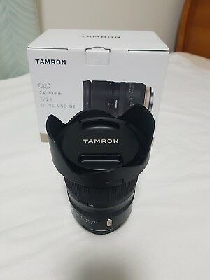 Tamron SP 24-70mm f/2.8 Di VC USD G2 Lens for Canon. mint condition