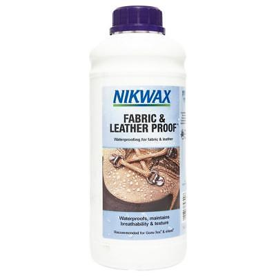 New Nikwax Fabric Leather Proofer 1 Litre Fabric Washing