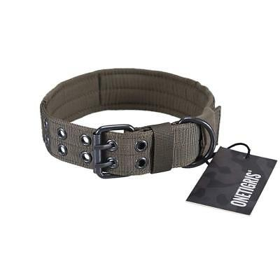 OneTigris Military Adjustable Dog Collar with Metal D Ring & Buckle Available in