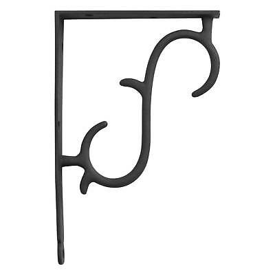 Signature Hardware Simple Scrollwork Cast Iron Shelf Bracket