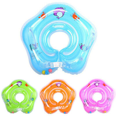Kid Neck Float Circle Inflatable.Ring Swimming Pool 4 Colors PVC Anti-allergy