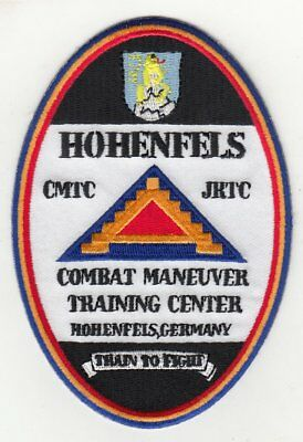 "Hohenfels Training Center Germany 4"" embroidered oval patch"