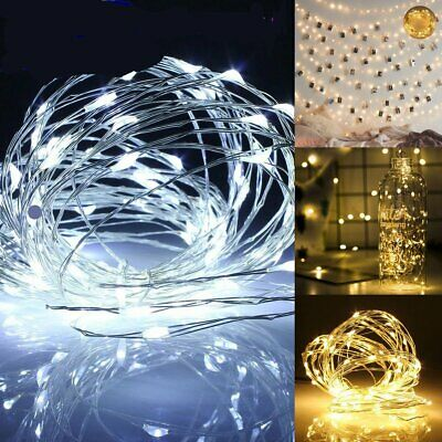Hot LED Battery Operated Copper Wire Leds String Fairy Mini Decor Lights(1~50M)