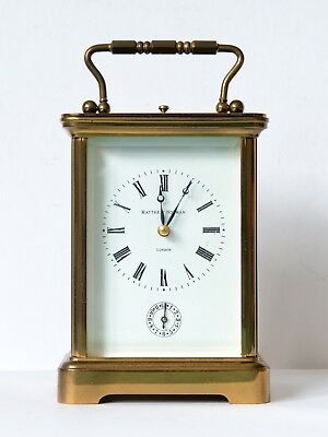 MATTHEW NORMAN VINTAGE SWISS CARRIAGE CLOCK, Repeater, Alarm with original key