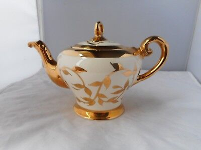 MYOTT TEAPOT-12cms high and 19.5cms high-decorated With 18k GOLD
