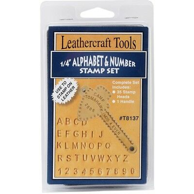 Realeather Crafts Metal Alphabet And Number Stamp Set 0.25-inch - 025inch