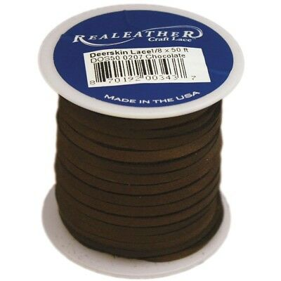 "Deerskin Lace 1/8"" Chocolate - 125x50 Spool"