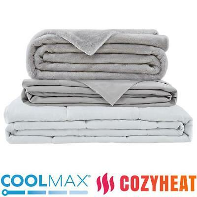 Nano-Bead Weighted Blanket, 20lbs with COOLMAX + COZYHEAT