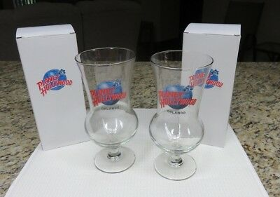 Planet Hollywood Lot of 2 cocktail glasses, Orlando;  New, never used with boxes