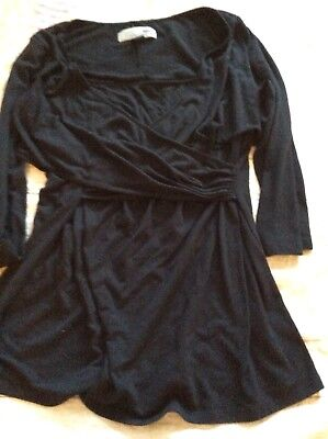 Old Navy Maternity Nursing Shirt Top Sz Large Black Solid Cute