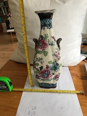 antique porcelain vase 29 H x11cm W keeling & co losolware excellent condition
