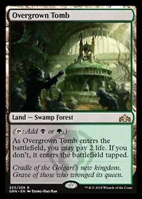 *Magic MtG: Overgrown Tomb (Rare) - GUILDS OF RAVNICA *TOP*